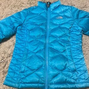 The North Face Girls Puff Jacket Turquoise